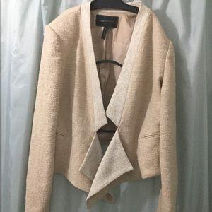 BCBGMazAzia asymmetrical jacket Peach tweed